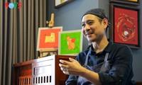พบปะกับจิตรกรฝ่ามห่าหายที่ได้รับรางวัลที่หนึ่งในการประกวดออกแบบแสตมป์ตรุษเต๊ตปีจอ 2018