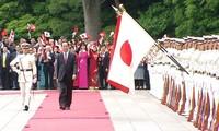 สื่อต่างๆของญี่ปุ่นรายงานเกี่ยวกับการเยือนญี่ปุ่นของท่าน เจิ่นด่ายกวาง ประธานประเทศเวียดนาม