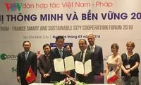 ฟอรั่มความร่วมมือในการพัฒนาตัวเมืองอัจฉริยะอย่างยั่งยืนระหว่างเวียดนามกับฝรั่งเศส