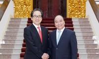 นายกรัฐมนตรีเหงวียนซวนฟุกให้การต้อนรับประธานองค์การส่งเสริมการค้าญี่ปุ่น