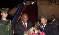 ประธานาธิบดีแอฟริกาใต้เยือนประเทศจีนเพื่อกระชับความร่วมมือด้านเศรษฐกิจ