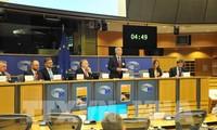 การประชุมอภิปรายเกี่ยวกับข้อตกลงการค้าเสรีเวียดนาม-อียู ณ รัฐสภายุโรป