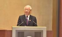 ประธานประเทศเหงวียนฟู้จ่องยื่นเสนอให้สภาแห่งชาติพิจารณาอนุมัติข้อตกลงCPTPP