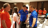 เอกอัครราชทูตเวียดนามประจำเมียนมาร์ไปให้กำลังใจทีมฟุตบอลเวียดนาม