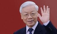 เลขาธิการใหญ่พรรค ประธานประเทศเหงวียนฟู้จ่องเยือนสันถวไมตรีประเทศลาวและประเทศกัมพูชาอย่างเป็นทางการ