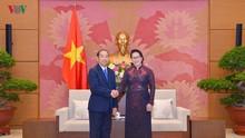 응우옌 티 낌 응언( Nguyen Thi Kim Ngan) 국회의장, 라오스 대법원장 접견