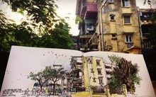 Sketchers tell pictorial stories of Hanoi's past and present