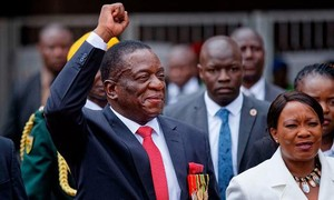 Emmerson Mnangagwa zum Präsidenten Simbabwe vereidigt