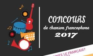 Concours de chanson francophone 2017