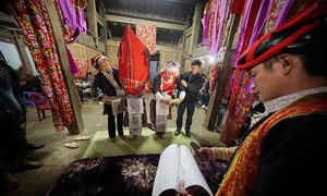 Wedding ceremony of the Red Dao