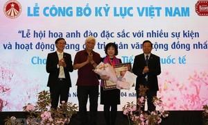 桜祭り、ベトナム国家記録を確立