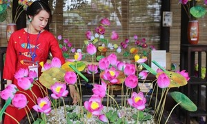 Produk kerajinan tradisional di Festival ke-8 Kerajinan Tradisonal Hue tahun 2019