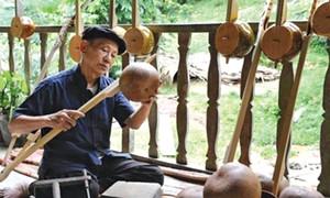 Arte de fabricar el instrumento musical Dan Tinh de los étnicos Tay en Bac Giang