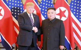 Moments of US President Donald Trump and DPRK Chairman Kim Jong Un at their 2nd summit in Hanoi