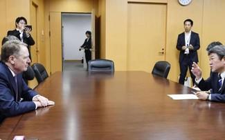 Motegi, Lighthizer hold talks in Tokyo ahead of Abe-Trump summit