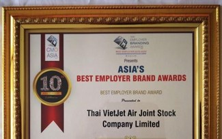 Thai Vietjet named Asia's Best Employer Brand 2019