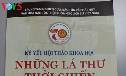 Las cartas de tiempos bélicos muestran la aspiración del pueblo vietnamita por la paz