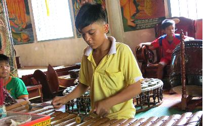 Fünf-Klang-Orchester der Khmer in der Doi-Pagode