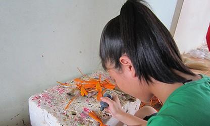 Kejuruan membuat capung dari bambu yang unik