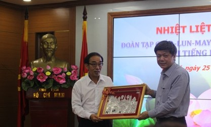 Enhancing cooperation between VOV and Lao A-lun-may magazine
