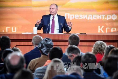 Mandatario ruso efectúa la conferencia de prensa anual