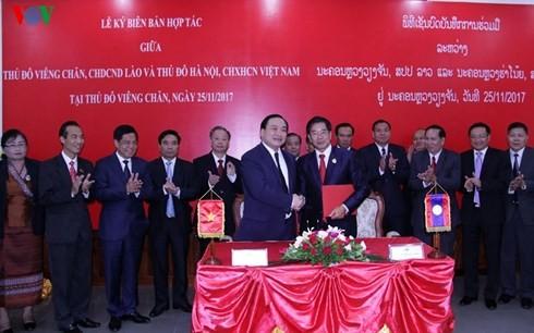Hai Thủ đô Hà Nội và Vientiane tăng cường hợp tác toàn diện