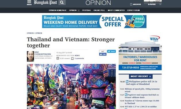 Prensa de Tailandia exalta perspectivas de las relaciones de ese país con Vietnam