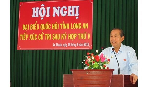 Lãnh đạo Đảng, Chính phủ tiếp xúc cử tri tại các địa phuơng