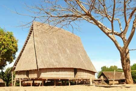 Les maisons Rong des Sedang