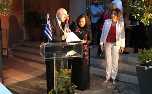 Khai trương Văn phòng Lãnh sự danh dự Việt Nam tại Hy Lạp