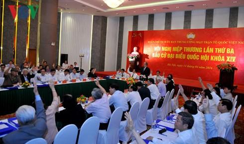 เวียดนามมีผู้ได้รับการเสนอชื่อรับเลือกตั้งสมาชิกรัฐสภาสมัยที่ 14 รวม 879 คน