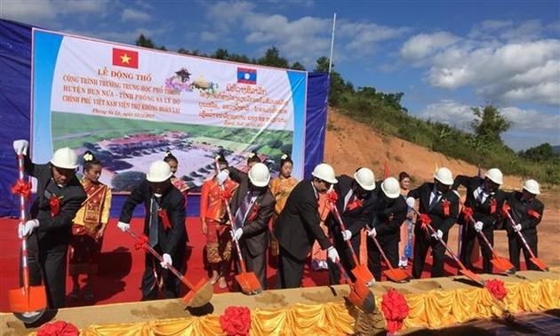 55 years of Vietnam-Laos relations: Vietnam builds school for northern Lao