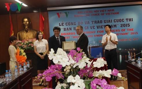 Вручены призы победителям конкурса «Что вы знаете о Вьетнаме»