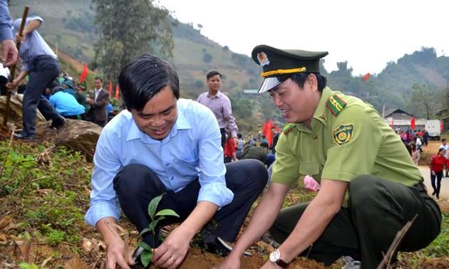 植樹運動に応えるイエンバイ省