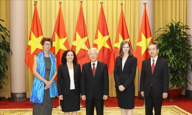 Party leader, President Nguyen Phu Trong receives new ambassadors
