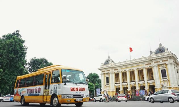 BonBon City Tour, die Fahrt zum alten Hanoi