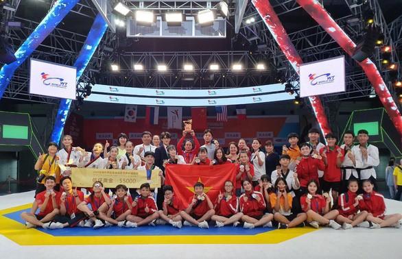 Việt Nam giành 4 huy chương vàng World Cup Taekwondo 2019