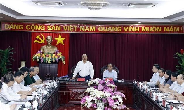 Thủ tướng Nguyễn Xuân Phúc làm việc với lãnh đạo tỉnh Bắc Kạn