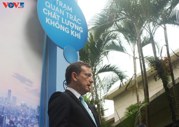 Inauguration d'une station de mesure de la qualité de l'air à Hanoï - ảnh 2