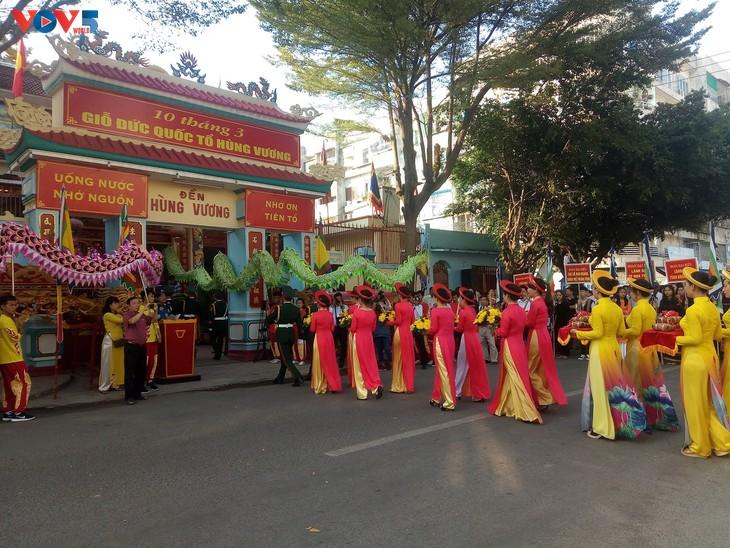 Lễ dâng hương tưởng niệm các Vua Hùng tại các địa phương trong cả nước - ảnh 12