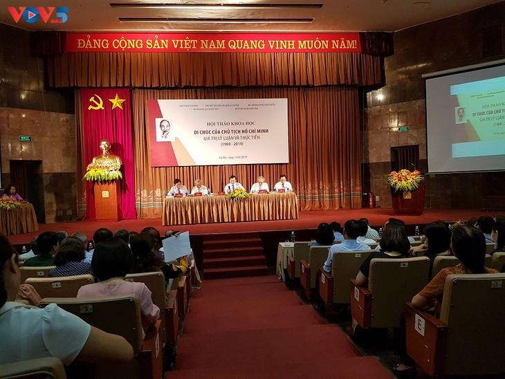 """Symposium: """"Testament du Président Hô Chi Minh – valeurs théoriques et pratiques"""" - ảnh 1"""