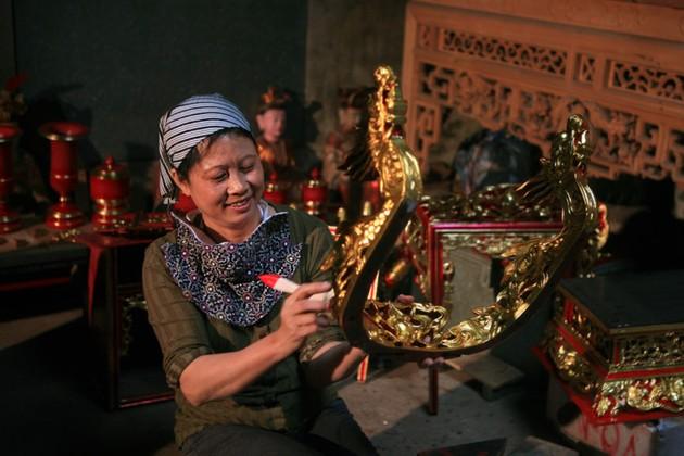 일하는 베트남 여성의 아름다움
