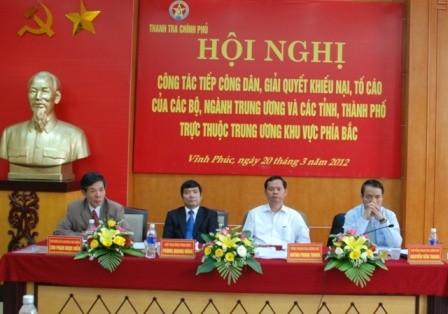Konferensi Inspektorat pemerintah kawasan Vietnam Utara  tentang pekerjaan   menerima warga  dan memecahkan masalah gugatan - ảnh 1