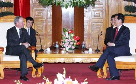 PM Nguyen Tan Dung menerima Walikota New York dan Menlu Argentina. - ảnh 1