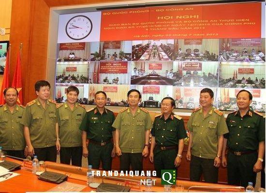 Konferensi online tentang  pembelaan keamanan nasional antara Kementerian Keamanan Publik dan Kementerian Pertahanan Vietnam - ảnh 1