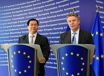 Perundingan ke-4 EVFTA - Dasar yang menuju ke perundingan secara intensif dan terinci. - ảnh 1