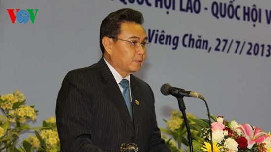 Parlemen Laos dan Vietnam mendorong kerjasama  secara  komprehensif. - ảnh 1