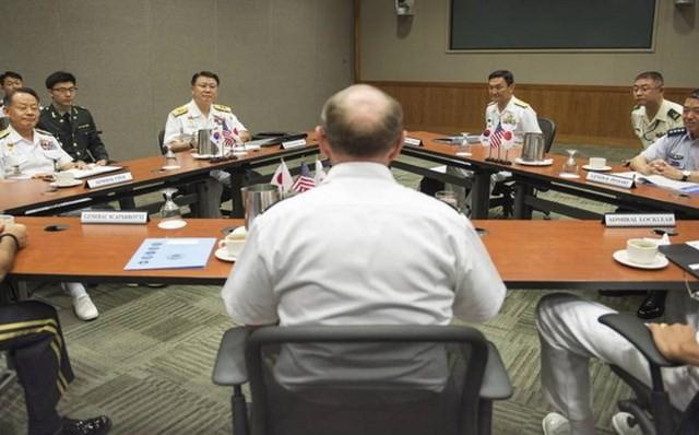 Republik Korea-Jepang-Amerika Serikat menetapkan saat mengadakan perundingan tentang kerjasama pertahan - ảnh 1