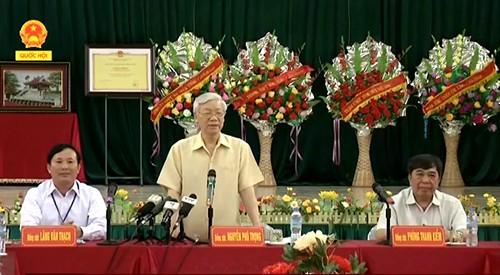 Sekjen KS PKV Nguyen Phu Trong melakukan kunjungan kerja di provinsi Lang Son - ảnh 1