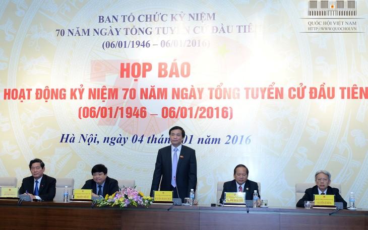 Jumpa pers memperkenalkan aktivitas-aktivitas memperingati ultah ke-70 hari pemilu pertama MN Vietnam - ảnh 1